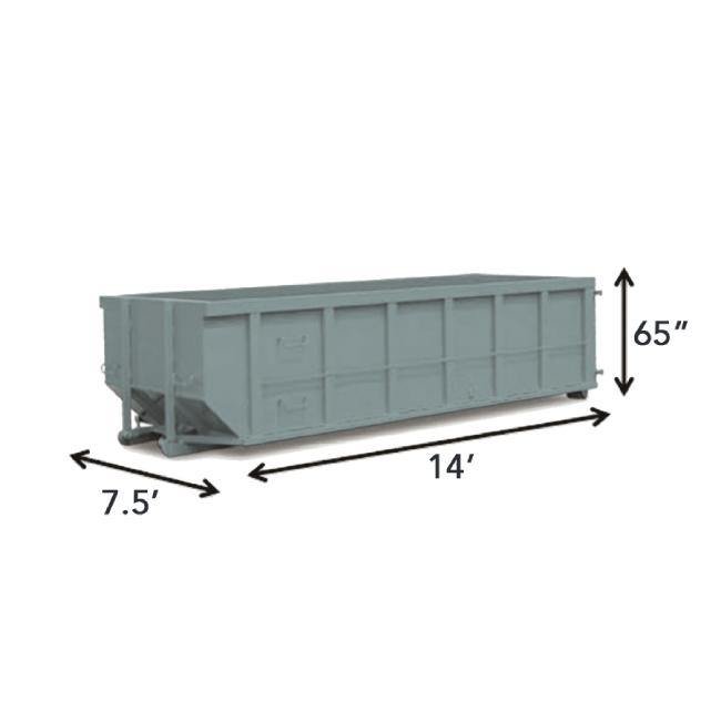 20-yard dumpster